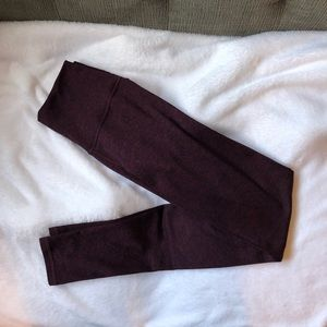 Aerie burgundy leggings
